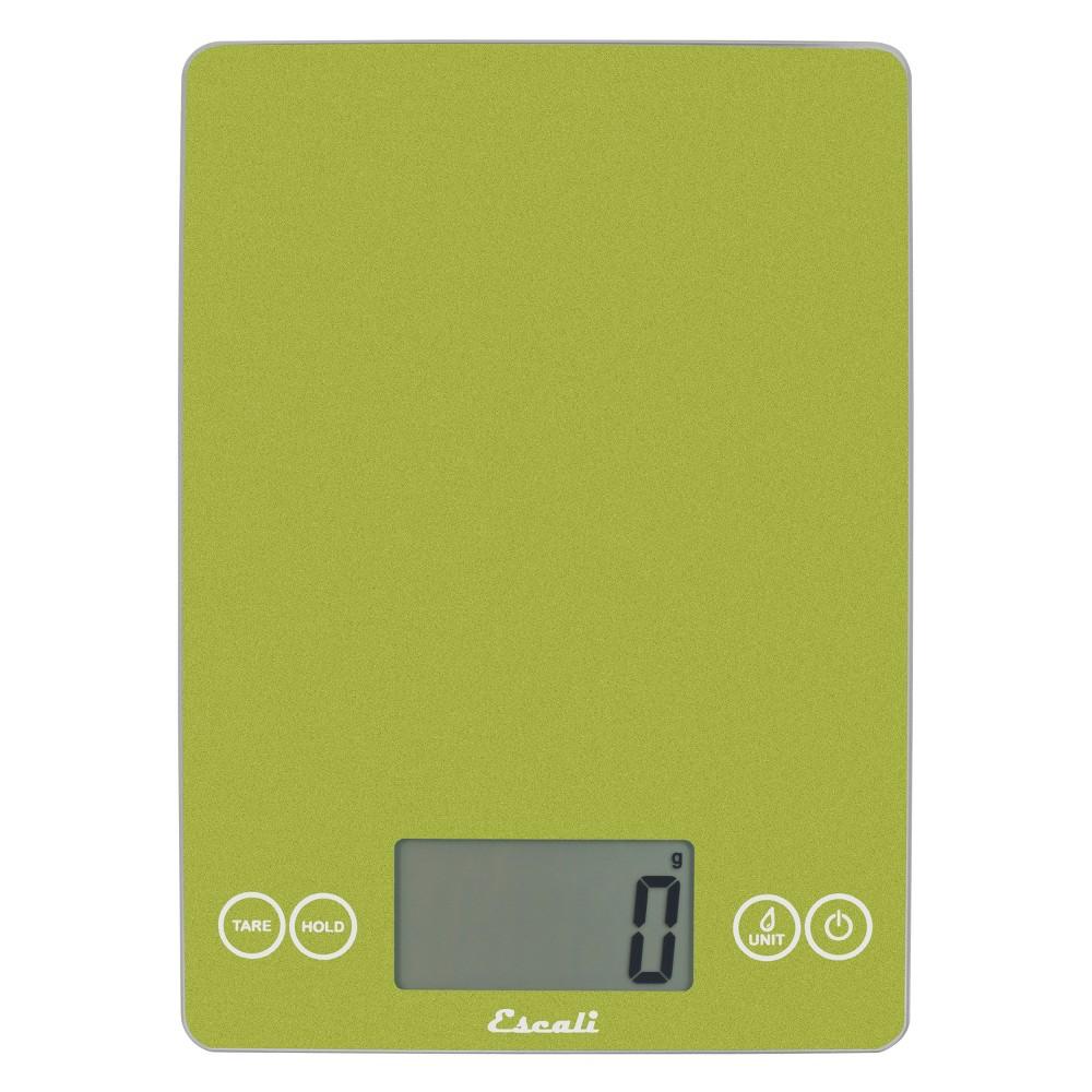 Escali Arti Glass Digital Food Scale 15lb Metallic Green