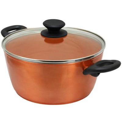 Gibson Eco Friendly Home Hummington 4.5 Quart Dutch Oven with Lid in Metallic Copper