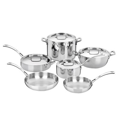 Cuisinart French Classic 10pc Stainless Steel Tri-Ply Cookware Set - FCT-10