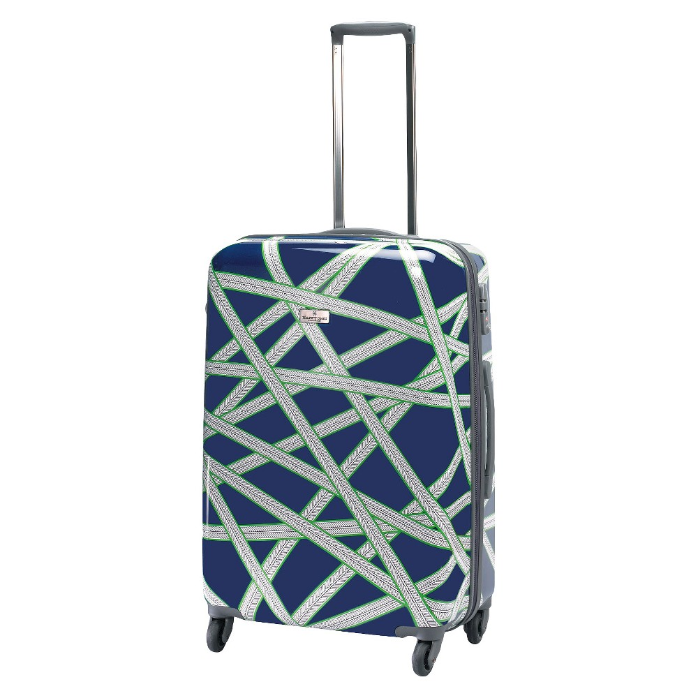 Happy Chic by Jonathan Adler 25 Hardside Spinner Suitcase - Navy (Blue)/Green