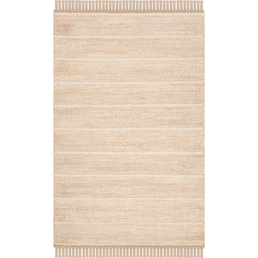 3'X5' Solid Woven Accent Rug Ivory - Safavieh