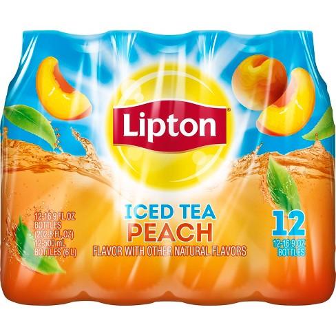 Lipton Peach Iced Tea - 12pk/16.9 fl oz Bottles - image 1 of 3