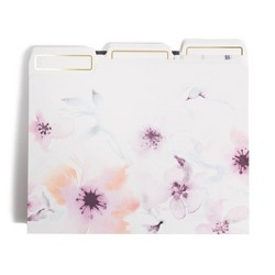 12ct Watercolor Purple Flower File Folders - UBrands
