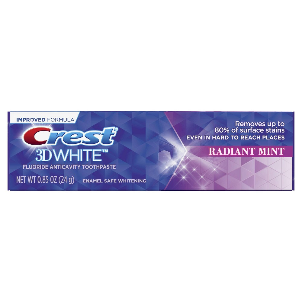 Image of Crest 3D White Whitening Toothpaste Radiant Mint Trial Size - 0.85 oz