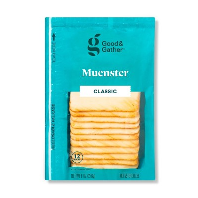 Muenster Deli Sliced Cheese - 8oz/12 slices - Good & Gather™