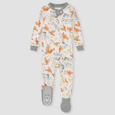 Burt's Bees Baby® Baby Boys' Farm Footed Pajama - Gray