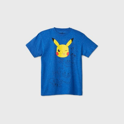 Boys' Short Sleeve Pokemon T-Shirt - Blue