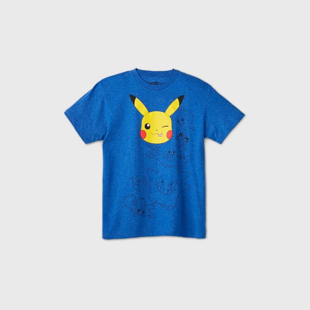 Boys 39 Short Sleeve Pokemon Graphic T Shirt Blue S