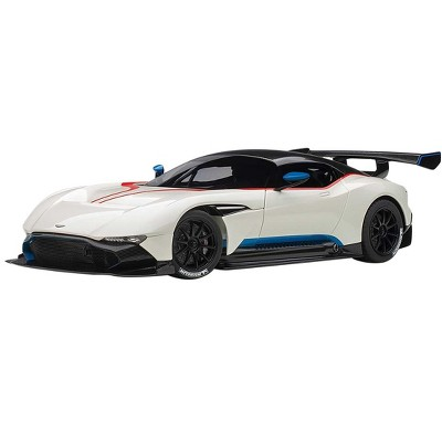 Aston Martin Vulcan Stratus White With Red And Blue Stripes 1 18 Model Car By Autoart Target