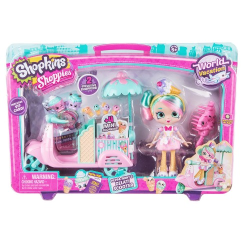 Shopkins™ World Vacation Shoppies Doll Playset - Peppa-Mint's Gelati Scooter - image 1 of 5