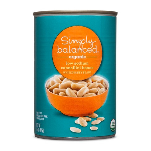 Organic Cannellini Beans Low Sodium - 15oz - Simply Balanced™ - image 1 of 1