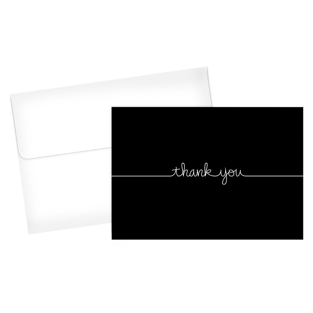 """Image of """"24ct Grace """"""""Thank You"""""""" Card Black"""""""