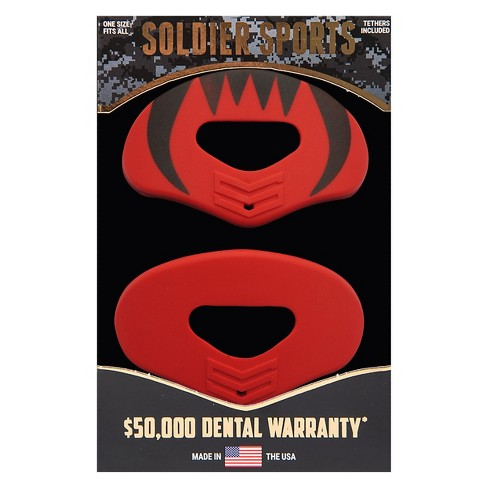 Soldier Sports Lip Protector Mouthguards - 2pk - Red - image 1 of 3
