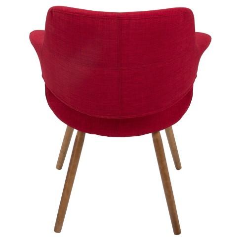 Vintage Flair Mid Century Modern Chair Red Lumisource Target