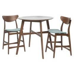 Gavin Counter Height Dining Set - Natural Walnut/Mint - Christopher Knight Home