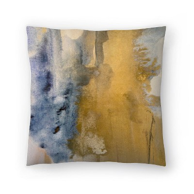 Americanflat Gold Dust I by Hope Bainbridge Throw Pillow