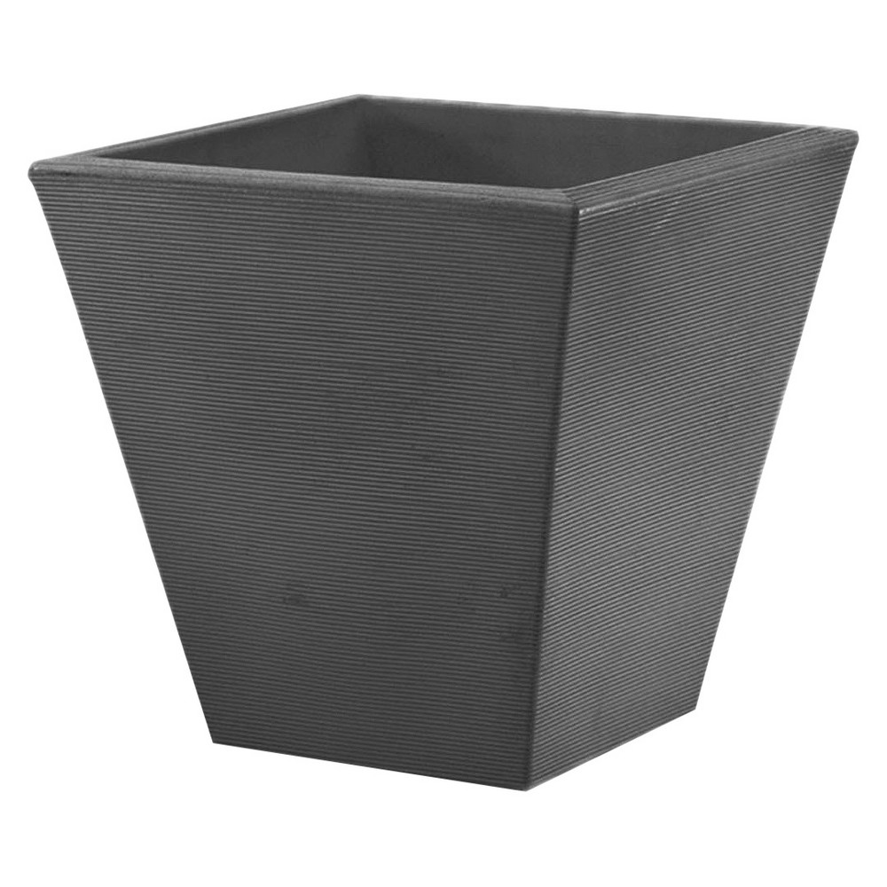 20'' Gramercy Square Planter - Gray - Crescent Garden