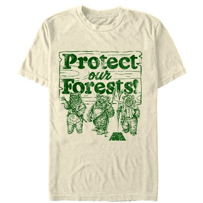 Men's Star Wars Ewok Protect Our Forests T-Shirt