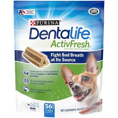 Dentalife Activefresh Chicken Mini Bone Large Bag Chewy Dog Treats - 56ct