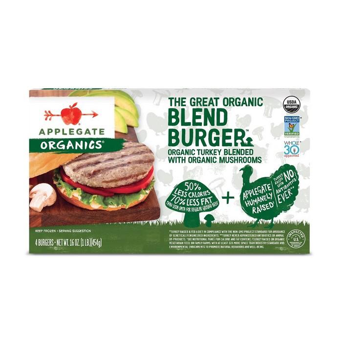 Applegate Organic The Great Organic Blend Burger with Turkey & Mushrooms - 16oz - image 1 of 1
