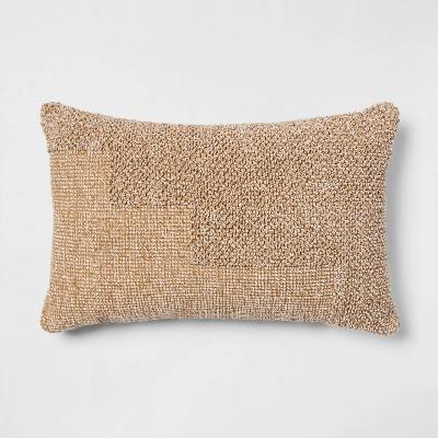 Modern Tufted Lumbar Throw Pillow Neutral - Project 62™