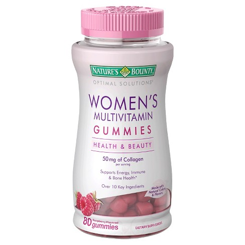 Optimal Solutions Women's Multivitamin Gummies - Raspberry - 80ct - image 1 of 1