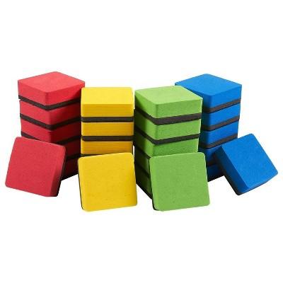 Juvale 24-Pack Magnetic Whiteboard Eraser for Dry Erase Pens & Markers for School, Kids