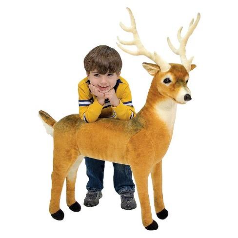 Melissa Doug Giant Deer Lifelike Stuffed Animal Over 3 Feet