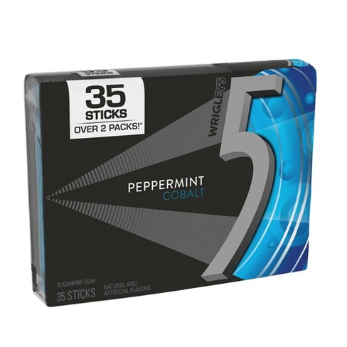 Wrigley's 5 Peppermint Cobalt Sugarfree Gum - 35ct - image 1 of 2