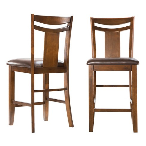 "Dewey 24"" Counter Stool Wood/Brown (Set of 2) - Inspire Q - image 1 of 4"