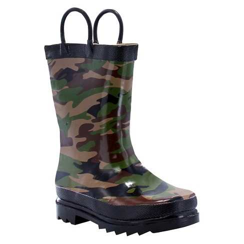 toddler boy camo rain boot green western chief target