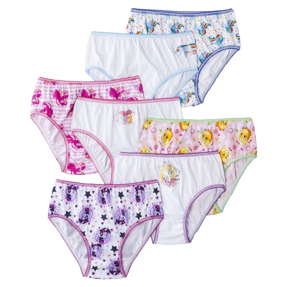 Girls' My Little Pony 7-Pack Assorted Underwear - Multi S, Size: 4, Multicolored