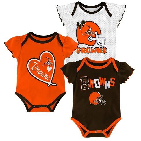 eae7395a NFL Cleveland Browns Baby Girls' Newest Fan 3pk Bodysuit Set - 6-9M