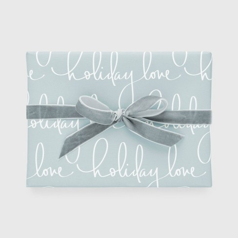 Blue Holiday Love Gift Wrap, Single Roll - Sugar Paper™ - image 1 of 4