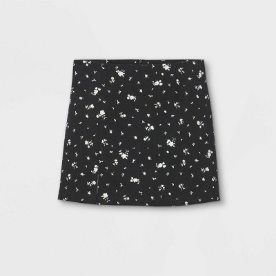 Girls' Notch Front A-Line Skirt - art class™ Black
