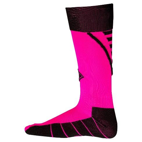 d092b9348066 Franklin Sports Kids  Neo-Fit® Soccer Socks - Neon Pink   Target