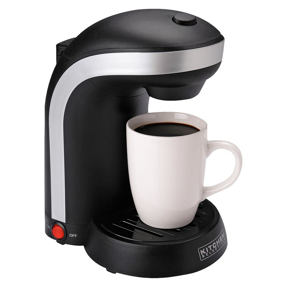 Kitchen Selectives Singler Serve Coffee Maker – Black 12983034