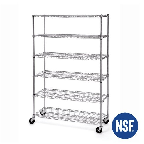 6-Tier UltraZinc NSF Steel Wire Shelving 18x48x72 – Seville Classics - image 1 of 3