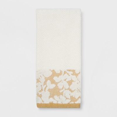 Floral Border Hand Towel Sour Cream - Threshold™