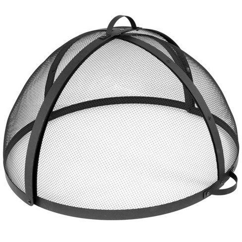 """32"""" Steel Easy Access Mesh Fire Pit Spark Screen - Sunnydaze Decor - image 1 of 4"""