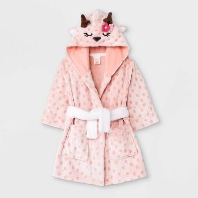 Toddler Girls' Deer Robe - Cat & Jack™ Peach