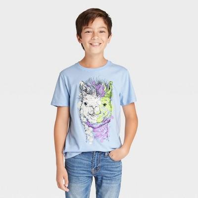 Boys' Llama Graphic Short Sleeve T-Shirt - Cat & Jack™ Blue