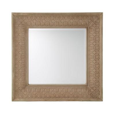 "31.5"" x 31.5"" Weype Decorative Wall Mirror Gray - Southern Enterprises"