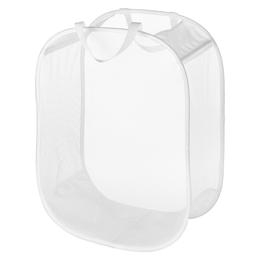 Image of Pop and Fold Laundry Bag White - Room Essentials