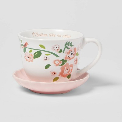 2pc Stoneware Mother Like No Other Cup and Saucer Set - Opalhouse™