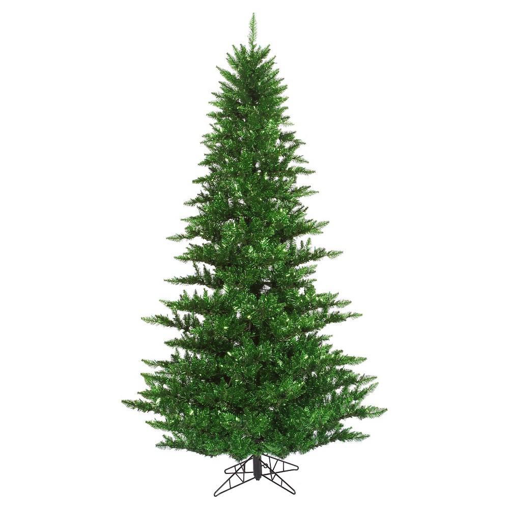 3ft Un - Lit Artificial Christmas Tree Slim Tinsel Fir - Green