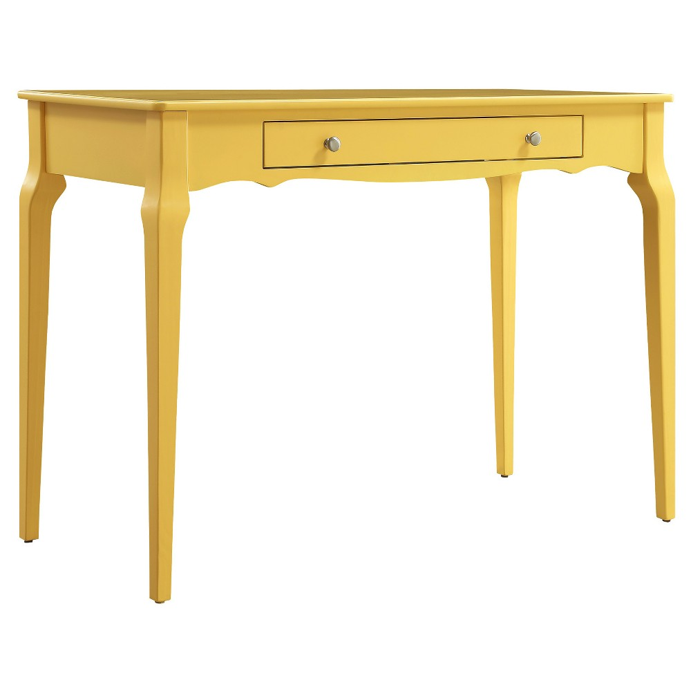 Muriel Wood Writing Desk With Drawers Lemon Inspire Q