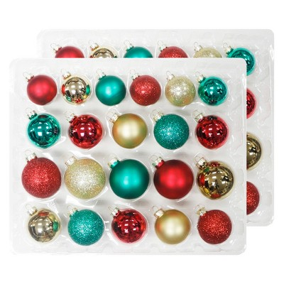 42ct Christmas Ornament Set Gold Green and Red - Wondershop™