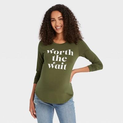 Long Sleeve Graphic Maternity T-Shirt - Isabel Maternity by Ingrid & Isabel™