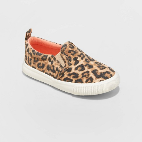 Toddler Girls' Kennedy Leopard Print Slip-On Sneakers - Cat & Jack™ Brown - image 1 of 3